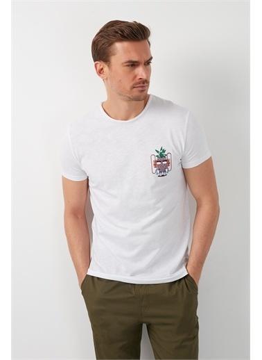 Buratti Buratti Bisiklet Yaka Erkek T-Shirt 5902264 Beyaz
